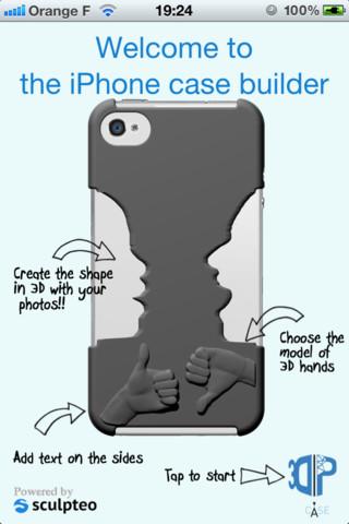Sculpteo iPhone app 3DPCase
