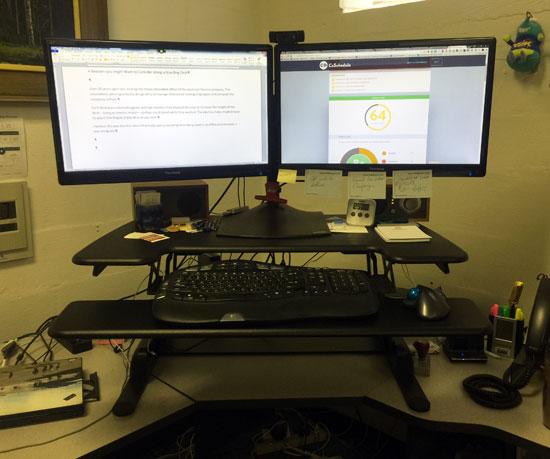 Steve's standing desk